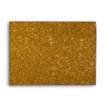 Golden glitter envelope