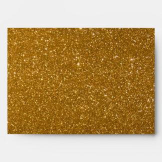 Golden glitter envelope