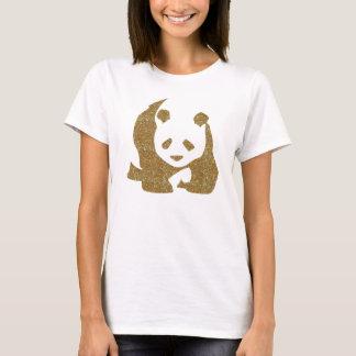 Golden glitter panda T-Shirt