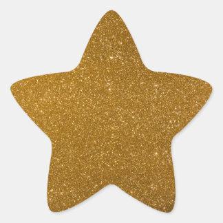 Golden glitter star sticker