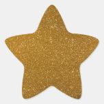 Golden glitter sticker