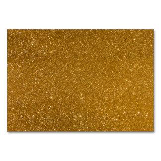 Golden glitter table card
