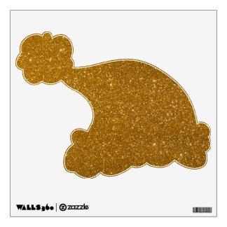 Golden glitter wall decal