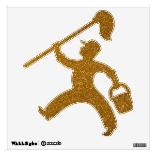 Golden glitter wall sticker