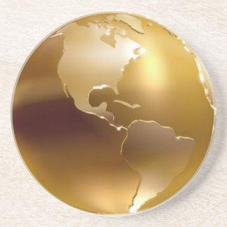 Golden Globe Cosater Sandstone Coaster