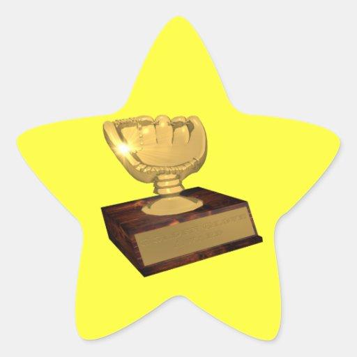 Golden Glove Award Star Stickers