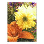 Golden Glow 5.5x7.5 Paper Invitation Card