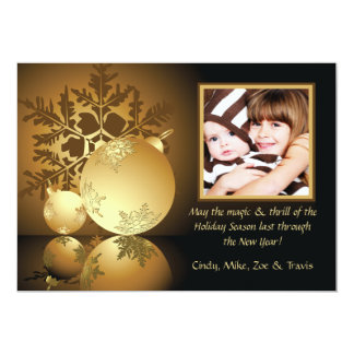 Golden Glow Holiday Photo Card