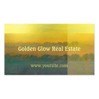 Golden Glow Landscape Business Card Template
