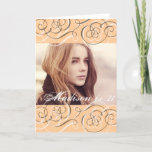 "Golden Glow Swirls 21st Birthday Party Photo Card<br><div class=""desc"">Add a photo of the birthday girl or of the birthday girl with her friends to this easy to use golden glow and elegant swirls card.</div>"