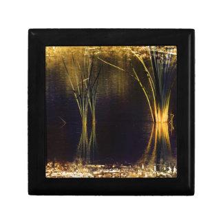 Golden Glow Waterscape Keepsake Box