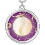 Golden Glow Yin & Yang Custom Necklace