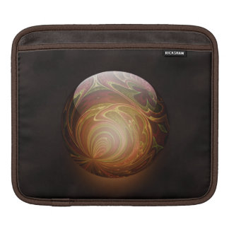 Golden Glowing Round Marble Abstract iPad Sleeve