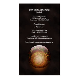 Golden Glowing Round Marble, Custom Business Card