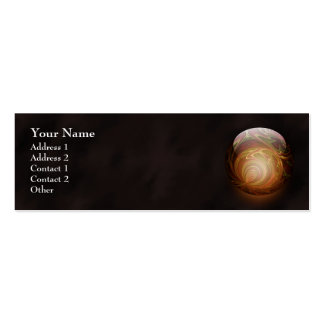 Golden Glowing Round Marble, Custom Business Card Template