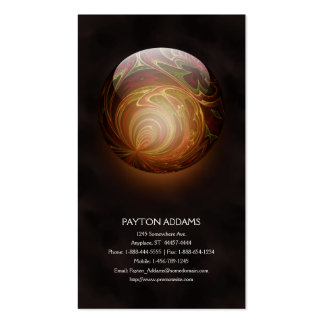 Golden Glowing Round Marble, Custom Business Card Templates