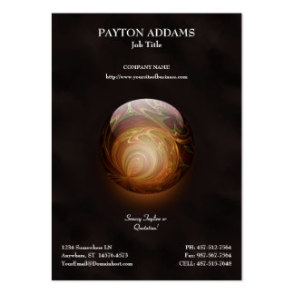 Golden Glowing Round Marble, Custom Business Cards
