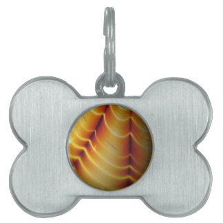 Golden Glowing Waves Pet Tags