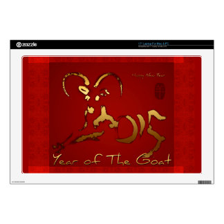 """Golden Goat 2015 - Chinese and Vietnamese New Year Decal For 17"""" Laptop"""