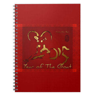Golden Goat 2015 - Chinese and Vietnamese New Year Spiral Note Books