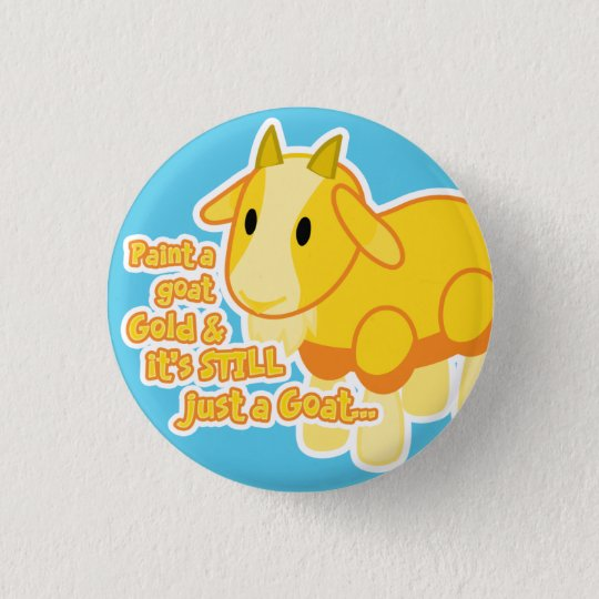 Golden Goat Button