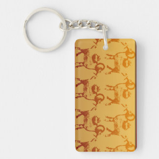 Golden Goats 7 Chinese New Year 2015 with Monogram Keychain