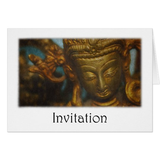 Golden Goddess Invitation