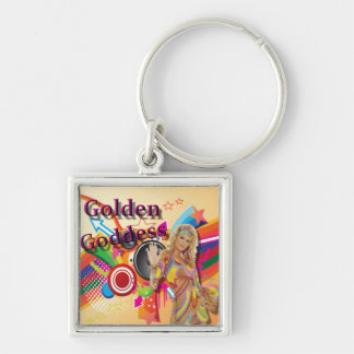 Golden Goddess Oldies Show Key Chain