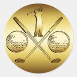 GOLDEN GOLF CLASSIC ROUND STICKER