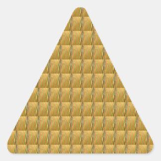 Golden Goodluck Crystal Tiles DIY add TEXT IMAGE Triangle Sticker