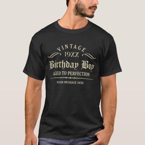 Golden Gothic Script Funny Birthday T_Shirt
