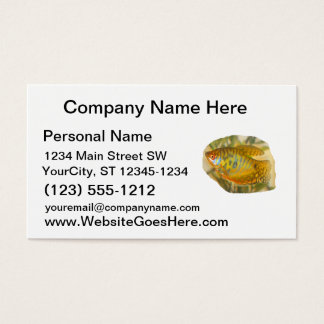 Golden Gourami Side View Saturated Aquarium Fish Business Card