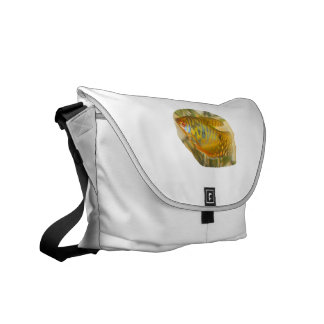 Golden Gourami Side View Saturated Aquarium Fish Courier Bag