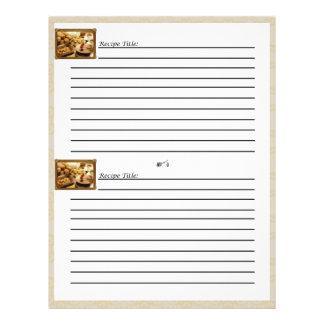 Golden Grace Dessert Recipe Cards Personalized Flyer