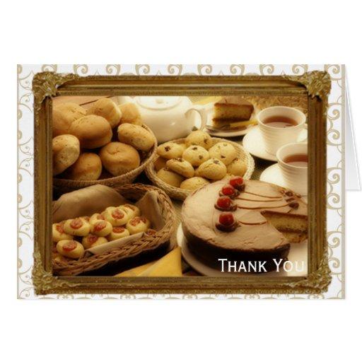 Golden Grace Desserts Greeting Cards