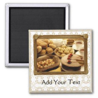 Golden Grace Desserts 2 Inch Square Magnet