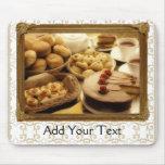 Golden Grace Desserts Mouse Pad