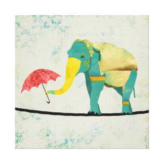 Golden Graceful Elephant Art Canvas