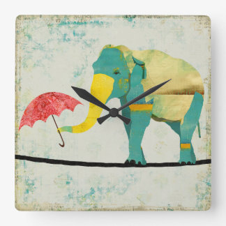Golden Graceful Elephant Clock