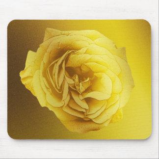 Golden Gradient Rose Mouse Pad