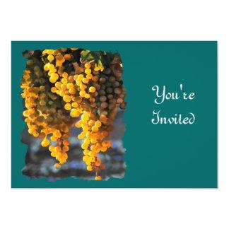 "Golden Grapes 5"" X 7"" Invitation Card"