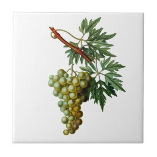Golden Grapes Redoute Ceramic Tile