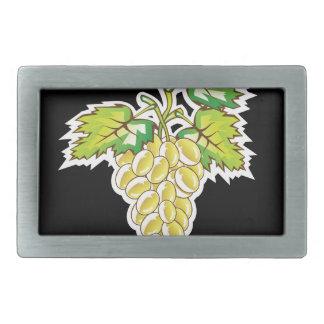 Golden Grapes Vector Art Belt Buckle