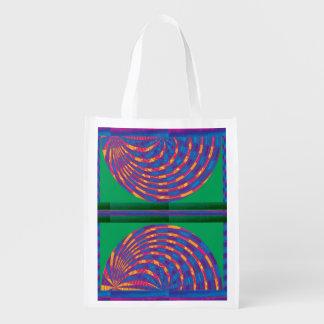 Golden Graphics Fire Flames Energy Healing Art. Reusable Grocery Bag