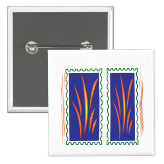 Golden Grass Reflection Colors at Sunset  fun gift 2 Inch Square Button