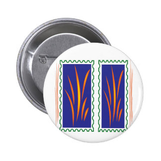 Golden Grass Reflection Colors at Sunset  fun gift 2 Inch Round Button