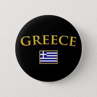 Golden Greece Pinback Button