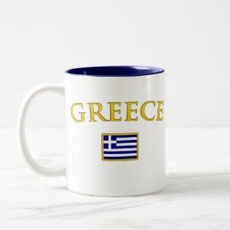 Golden Greece Two-Tone Coffee Mug