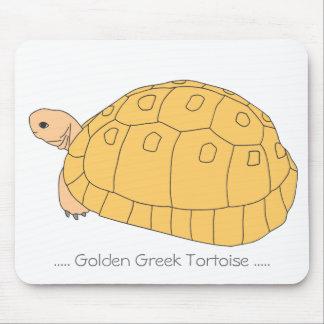 Golden Greek Tortoise Mousepad (golden)