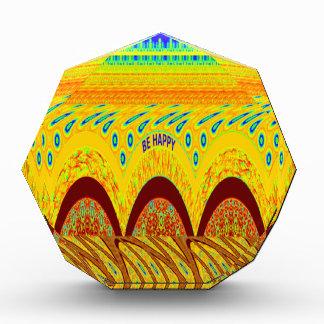 Golden green African Traditional Color Acrylic Award